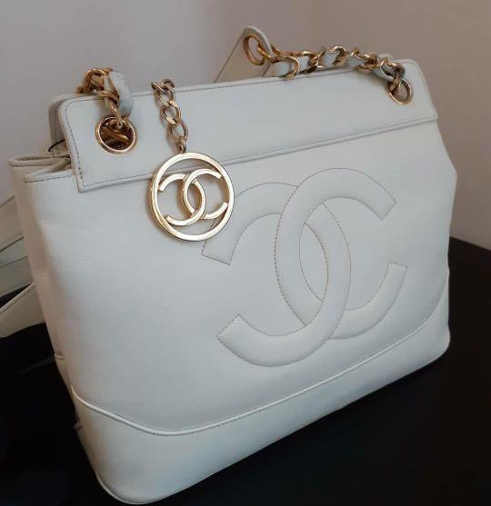 Vintage Chanel Off White Lamb GHW #1