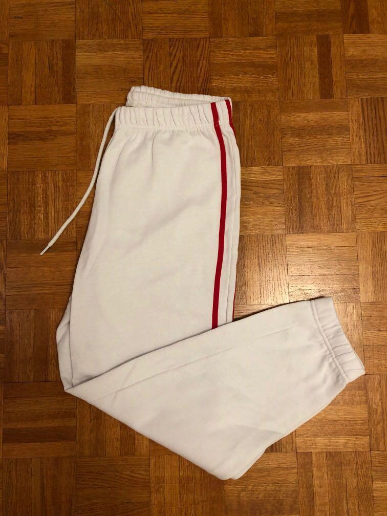 White sweatpants garage