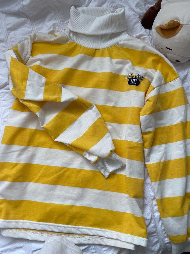Yellow striped sweatshirt