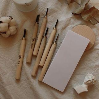 雕刻刀+橡皮