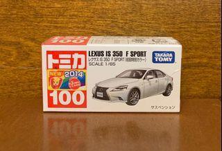 日版初版 未開封包膠袋 TOMICA 100 LEXUS IS 350 F Sport 初回 HK$80