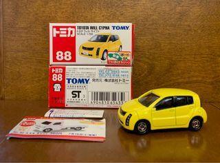 日版初版 TOMICA 藍字 88 TOYOTA Will Cypha 每架 HK$100