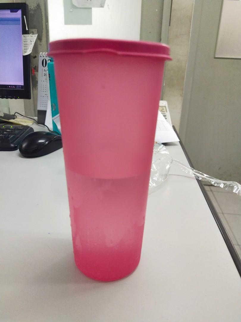 Botol minum tupperware ori pink