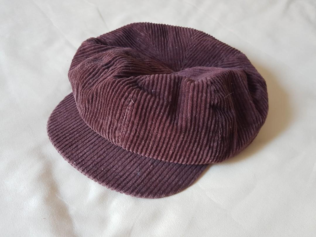 Vintage Brown Corduroy hat