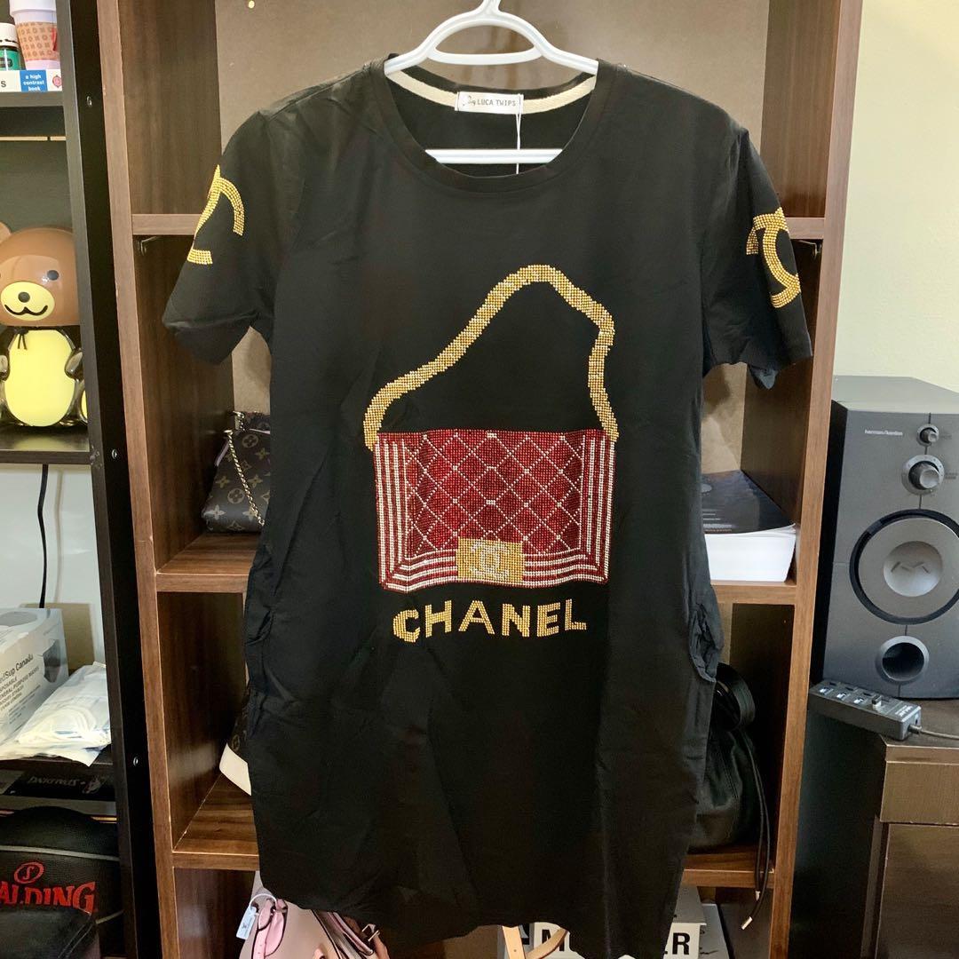 Cute black tshirt dress w/ pockets free shipping