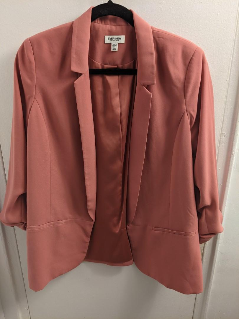 Ever New Dusty Rose 3/4 sleeve blazer (US8)