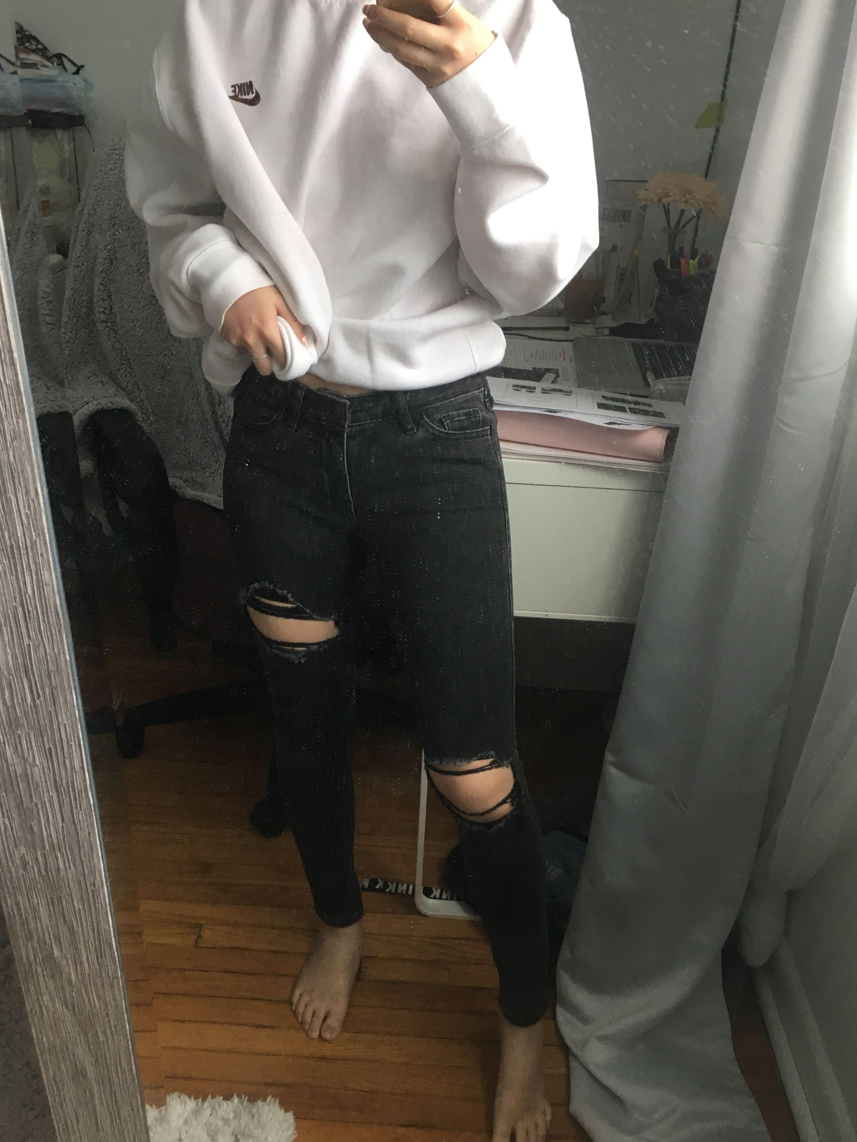 Hollister Ripped Black Skinny Jeans