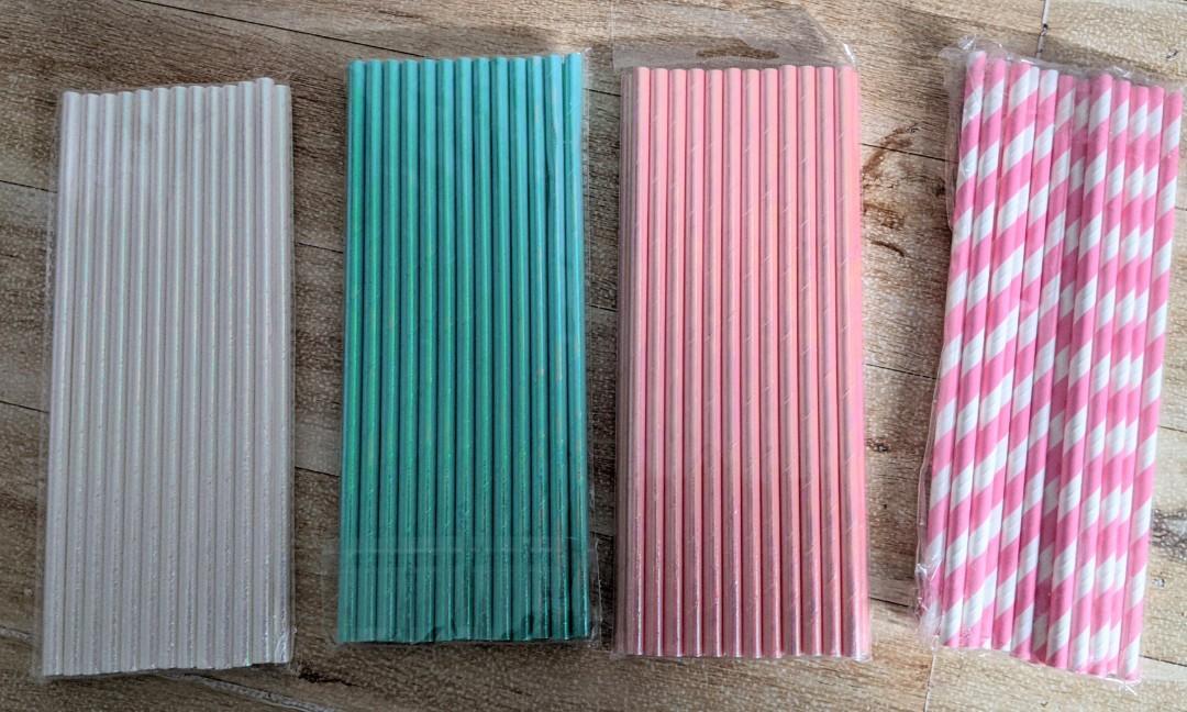 Straws for cake pops, cakesickles, balloon toppers, lollipops etc