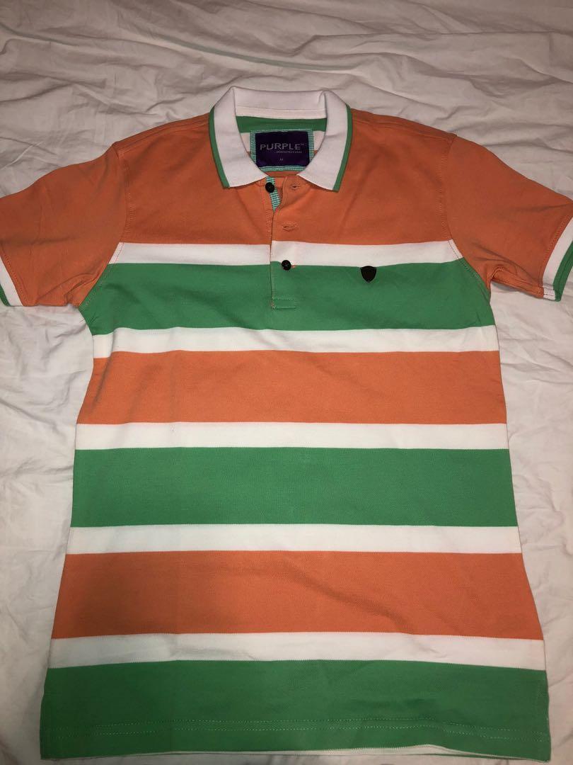 Striped Colour Boys Polo Tee