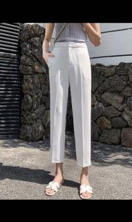White Cigarette Pants