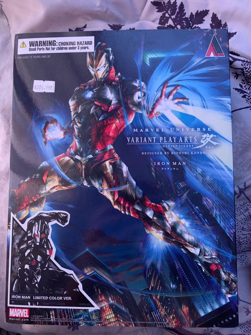 $100/BO Play Arts Kai Square Enix Limited Edition Gray Iron Man