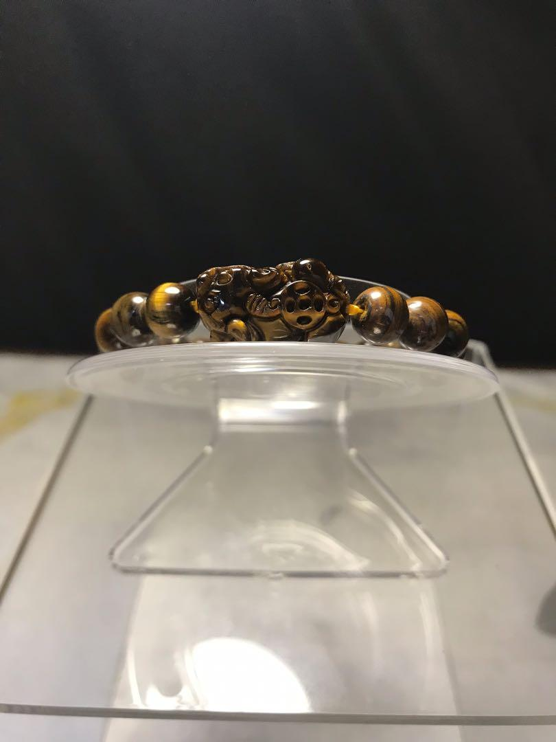 黃金虎眼貔貅手珠