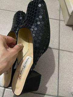 亮片方頭穆勒跟鞋