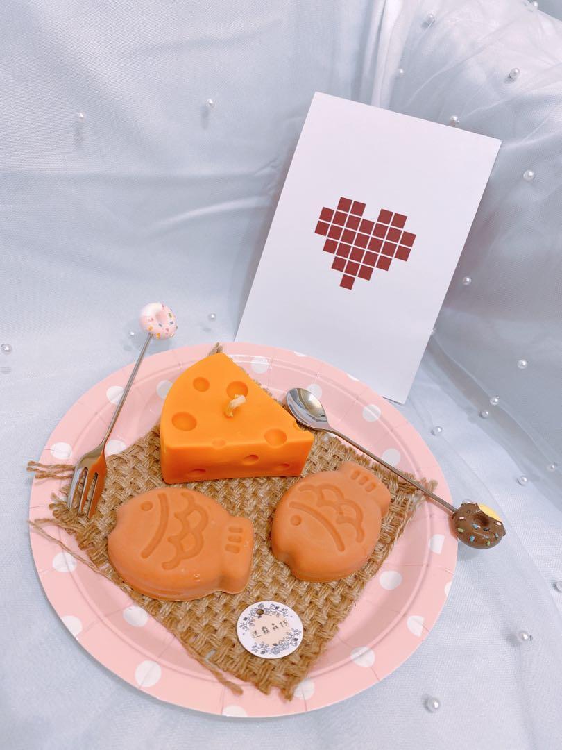 迷霧森林-乳酪蛋糕香氛蠟燭🧀️ 大豆蠟燭/香氛蠟燭/拍照道具/居家擺飾/生日禮物/客製化