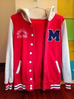 經典棒球外套 紅 字母M