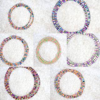 Afro bohemian elastic waist beads