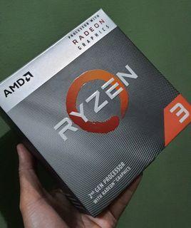 AMD RYZEN 3 3200G with Radeon Vega 8 Graphics 4 Core, 4 Thread Processor