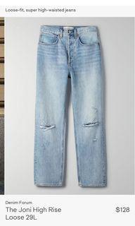ARITZIA joni high rise jeans