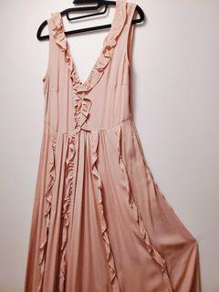 Blush Pink Ruffle Dress