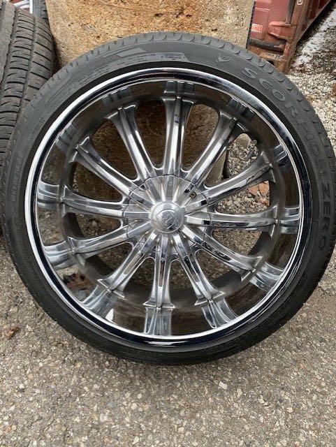 Chrome Rims & Pirelli Tires for Sale