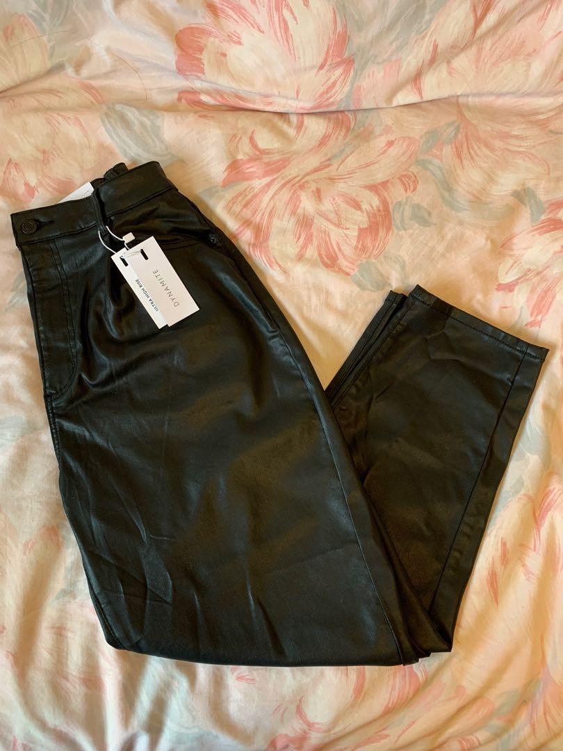 Dynamite Faux Leather Pants