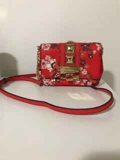 Floral Michael Kors crossbody mini bag