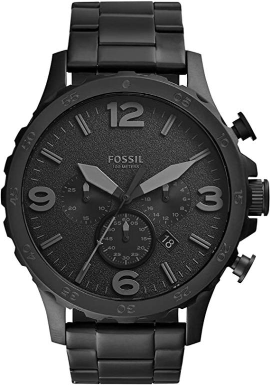Fossil Men's Nate Stainless Steel Chronograph Quartz Watch