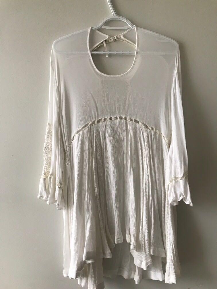 Free People Boho White Dress