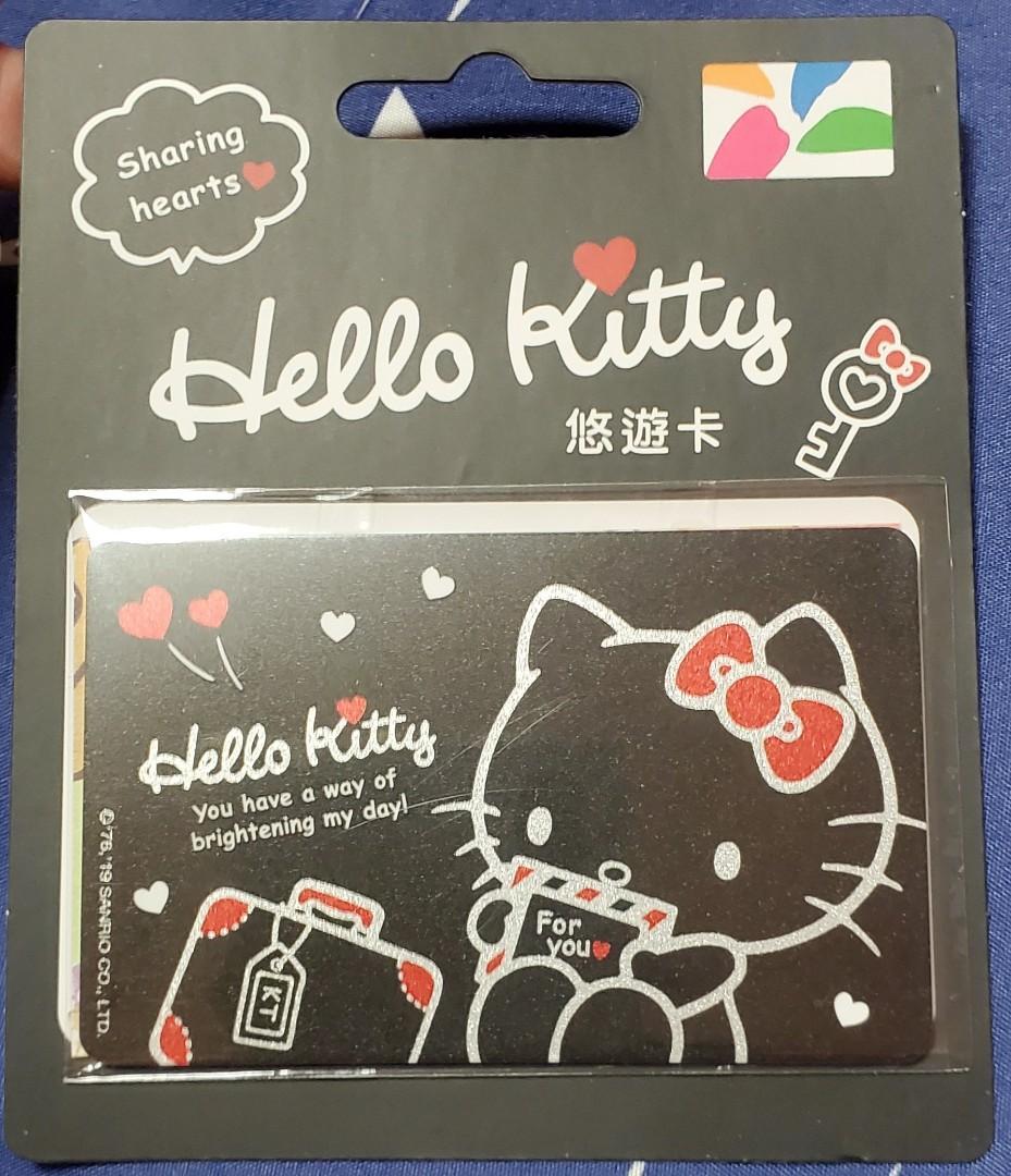Kitty暗黑系列閃光悠遊卡