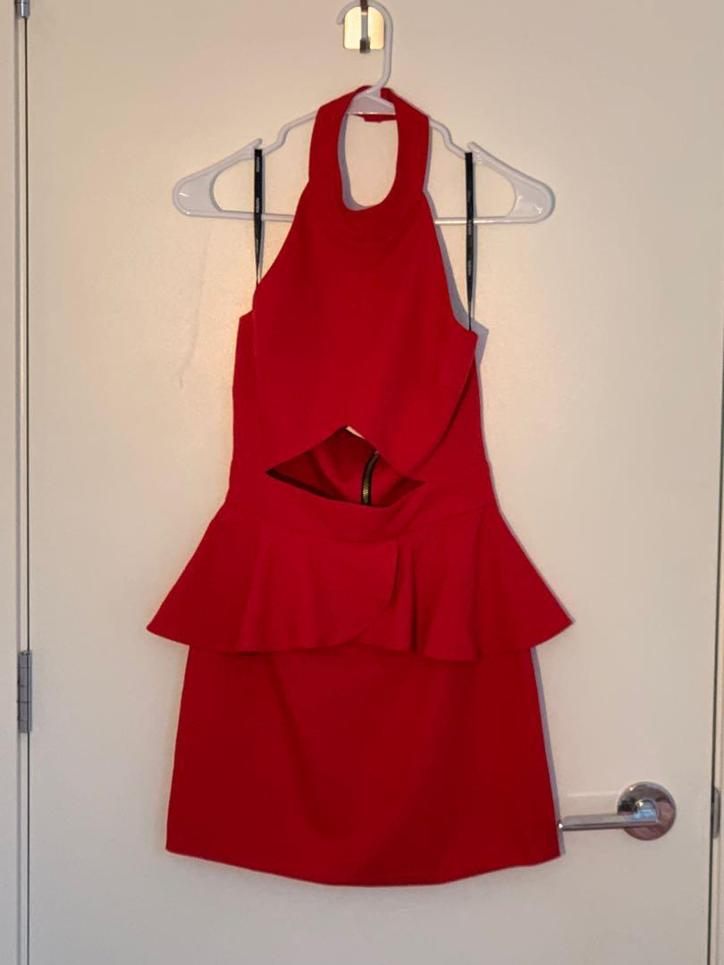 Naven Red Dress, Size S