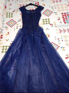 Navy Blue Wedding / Party  Gown (for sister)