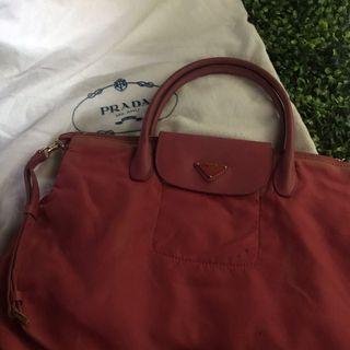 Pink Prada Handbag with dust bag