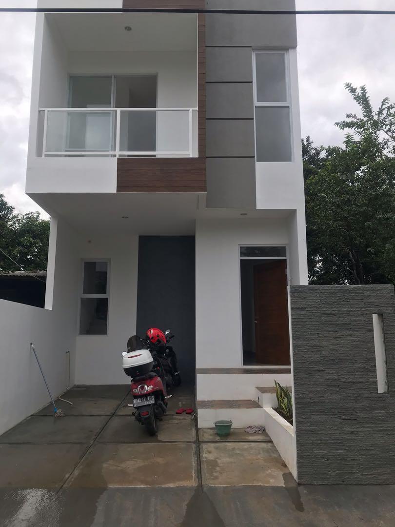 Rumah baru non cluster berkualitas di bambu apus ciputat
