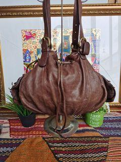 Tas Martina Caponi Italy Full Leather Handbag Authentic #Sale Lebaran