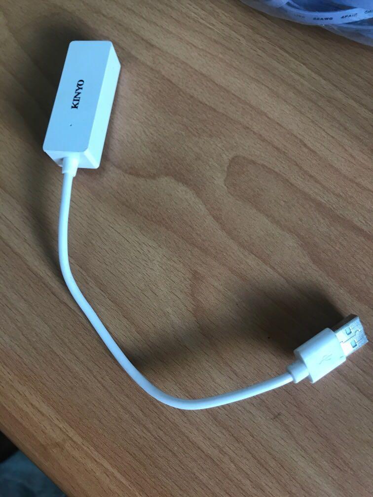 USB 網路轉換線 網路線 轉接頭