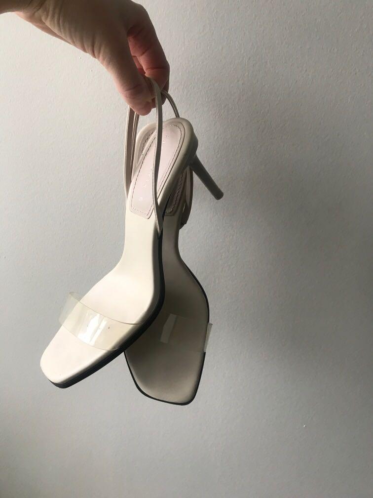 Zara clear strap heels