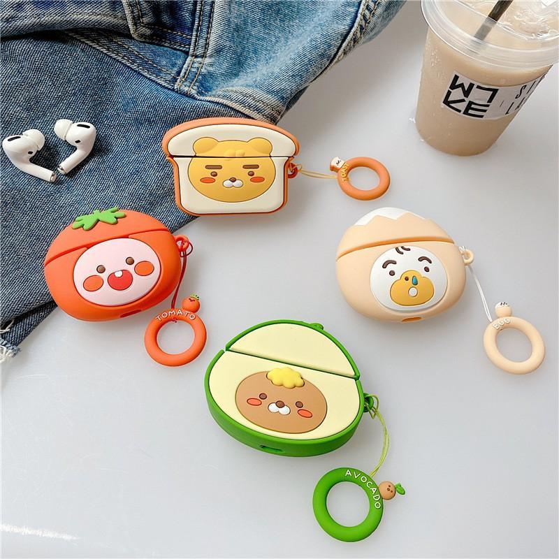 可愛造型 韓國卡通1/2代 & AirPods Pro適用 蘋果無線藍牙耳機套