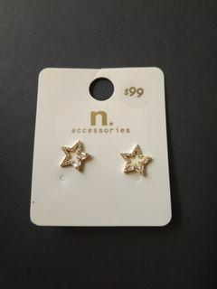 鑽石星型耳環
