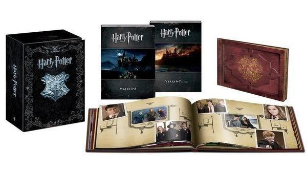 哈利波特 1~8集:BD+DVD 19碟 終極全套限量禮盒版