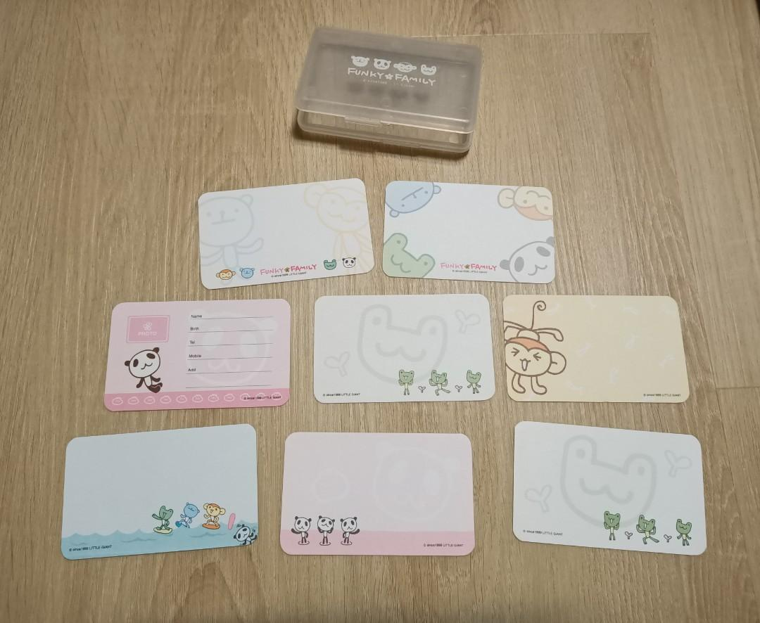 盒裝小名片卡 有8張