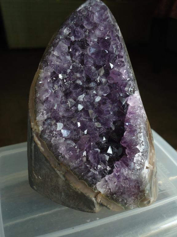 可面交 烏拉圭 紫晶簇 紫晶片 紫晶鎮 紫晶 晶簇 紫水晶 水晶 天然 原石 能量 瑪瑙邊 消磁 招財 風水 小 火型