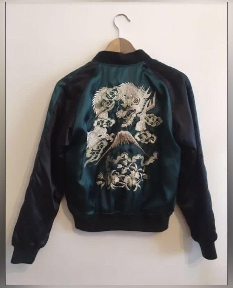 Authentic embroidered bomber