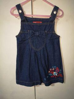 Baby Mossimo Jumper Denim Dress Small