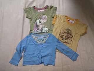 Baby mossimo shirt + gingersnaps girls cardigan set