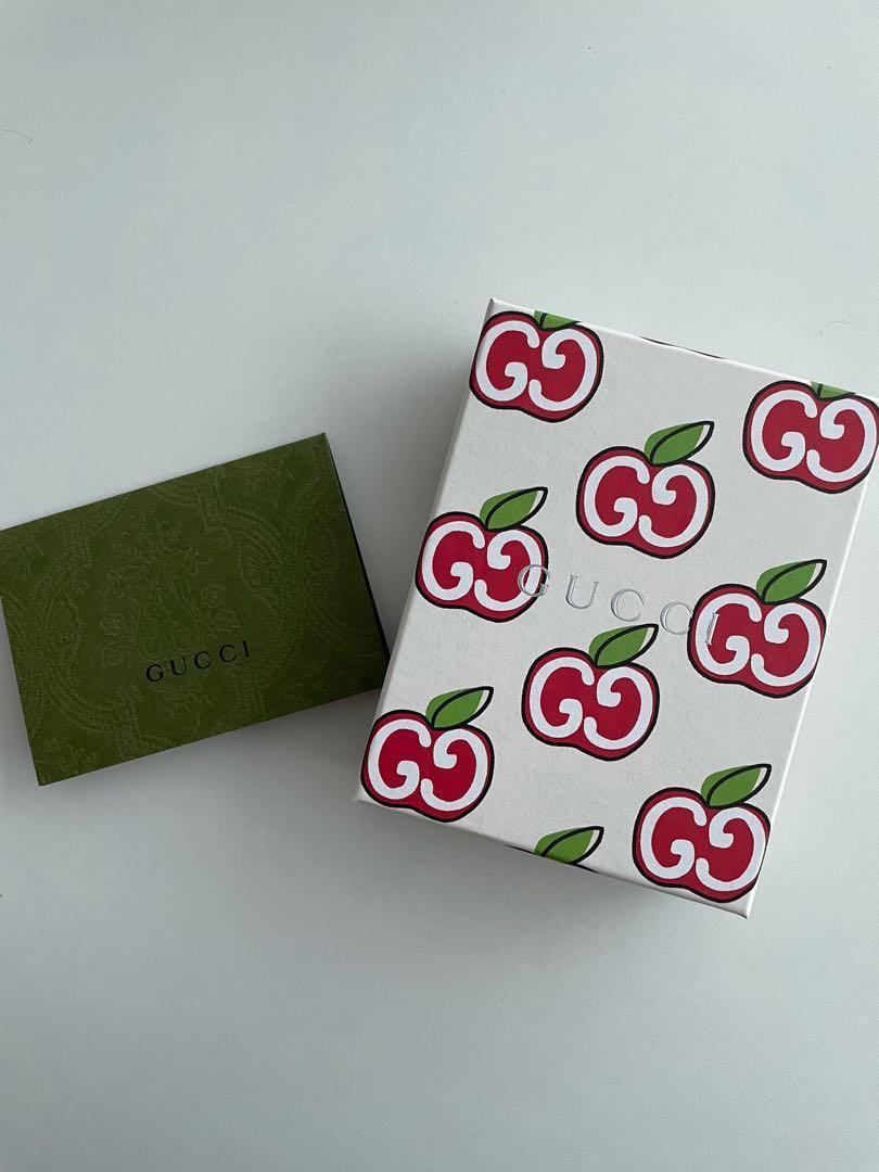 Brand new gucci apple logo cardholder
