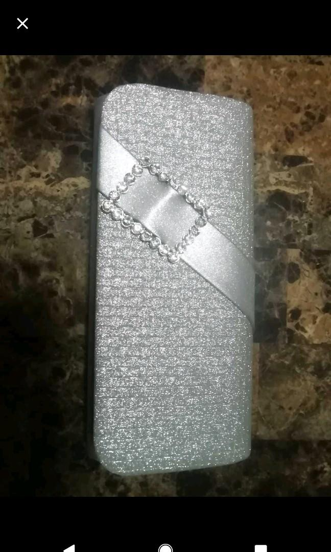 Brand New Silver Clutch from Laura
