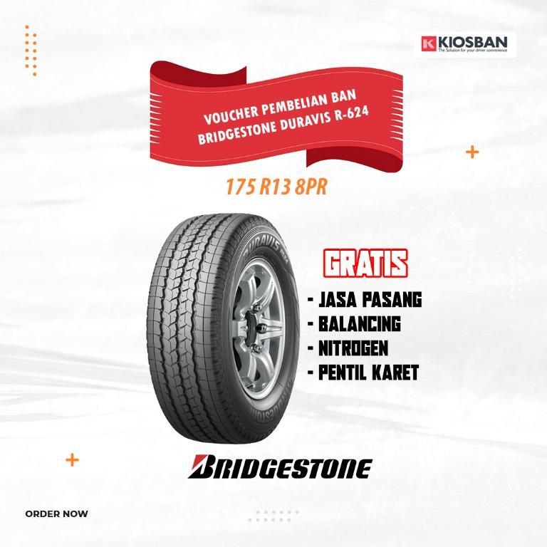 Bridgestone Duravis R-624 Ukuran 175 R13 8PR Ban Mobil