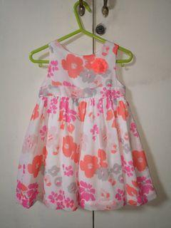 Carters Pink Floral Party Dress