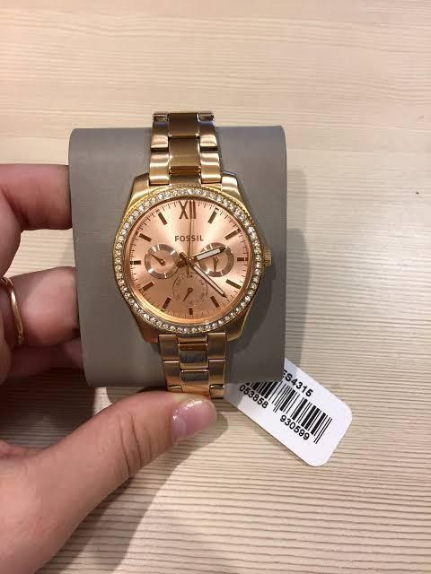 Fossil Ladies Scarlette Rosegold Watch ES4315