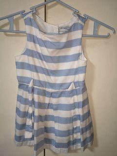 Gingernsnaps Blue Stripe Girls Fashionista Dress 18m